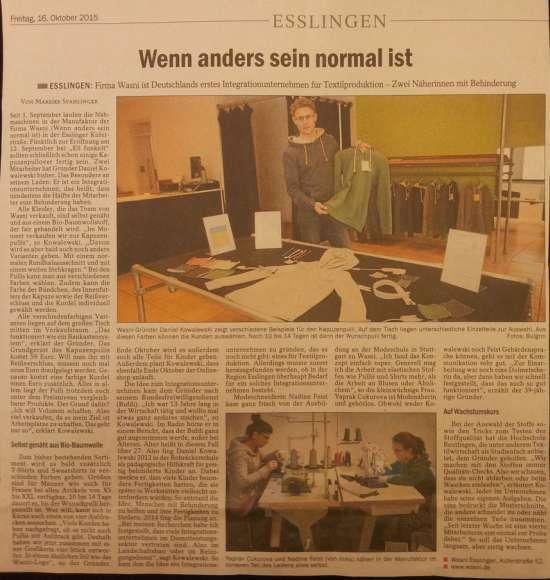 deutschlands erstes integrationsunternehmen für textilien k